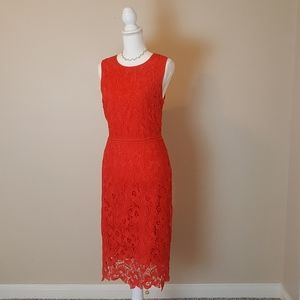 NWOT Size 10 Ann Taylor Red Lace Dress